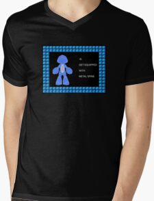 Mega Man Spinal Fusion - Get Equipped With Mens V-Neck T-Shirt