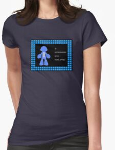 Mega Man Spinal Fusion - Get Equipped With Womens Fitted T-Shirt