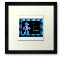 Mega Man Spinal Fusion - Get Equipped With Framed Print