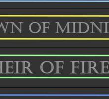 Throne of Glass spines Sticker