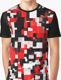 Red Black Checker Abstract Graphic T-Shirt