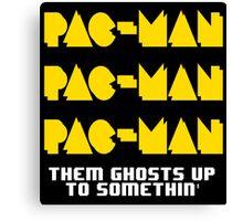 PACMAN/Jumpman White Canvas Print
