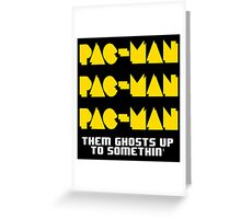 PACMAN/Jumpman White Greeting Card