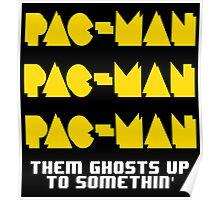 PACMAN/Jumpman White Poster