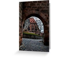 Courtyard Entry Greeting Card
