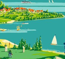 Ontario's Lakelands, Canada Vintage Travel Poster Sticker