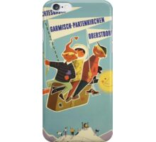 Austria, Germany Bavarian Alps Vintage Travel Poster iPhone Case/Skin