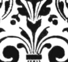 Monochrome floral 19th century printers' ornament design Sticker
