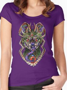 Vibrant Hellhound Women's Fitted Scoop T-Shirt