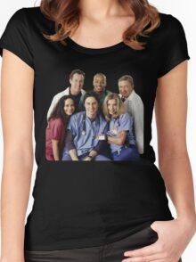 Scrubs Cast (early years) Women's Fitted Scoop T-Shirt
