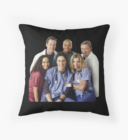 Scrubs Cast (early years) Throw Pillow