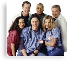 Scrubs Cast (early years) Canvas Print