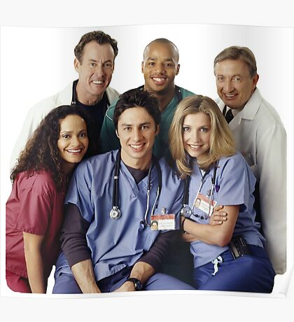 Scrubs Cast (early years) Poster