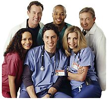Scrubs Cast (early years) Photographic Print