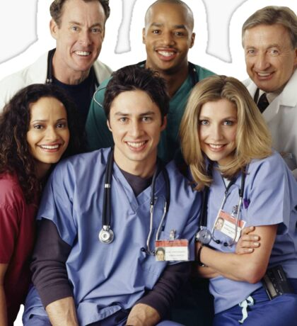 Scrubs Cast (early years) Sticker