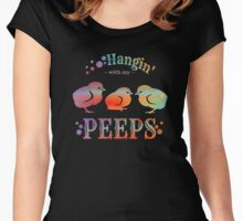 Hangin' with my Peeps Women's Fitted Scoop T-Shirt
