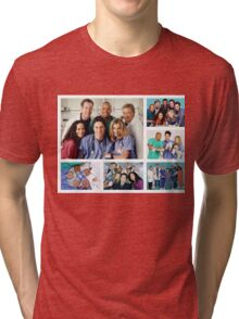 Scrubs Cast Photoshoot Collage Tri-blend T-Shirt