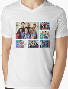 Scrubs Cast Photoshoot Collage Mens V-Neck T-Shirt
