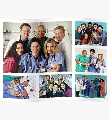 Scrubs Cast Photoshoot Collage Poster
