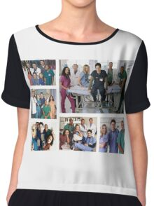 Scrubs Cast Photoshoot Collage Chiffon Top