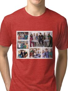 Scrubs Cast Photoshoot Collage Tri-blend T-Shirt