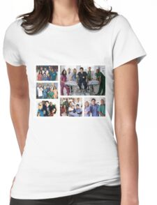 Scrubs Cast Photoshoot Collage Womens Fitted T-Shirt