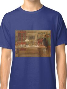 Vintage famous art - Carl Larsson - Getting Ready For A Game Classic T-Shirt