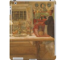 Vintage famous art - Carl Larsson - Getting Ready For A Game iPad Case/Skin