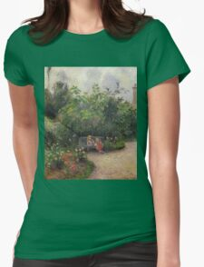 Vintage famous art - Camille Pissarro  - A Corner Of The Garden At The Hermitage, Pontoise Womens Fitted T-Shirt