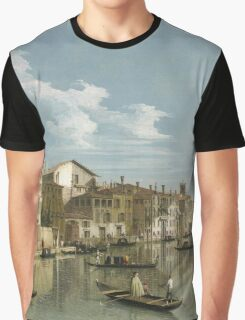Vintage famous art - Canaletto Antonio - Grand Canal From Palazzo Flangini To Palazzo Bembo 1735 - 1745  Graphic T-Shirt