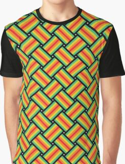 Patchwork Pattern Graphic T-Shirt