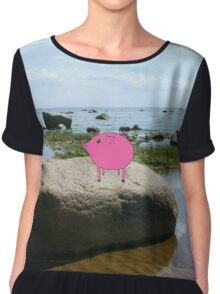 PiGgy on vacation! Chiffon Top
