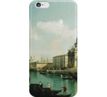 Vintage famous art - Bernardo Bellotto  - View Of The Grand Canal And The Doganaabout 1743 iPhone Case/Skin