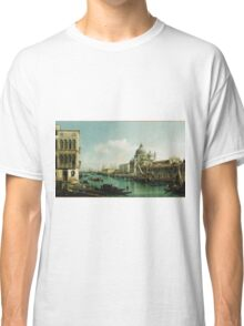 Vintage famous art - Bernardo Bellotto  - View Of The Grand Canal And The Doganaabout 1743 Classic T-Shirt