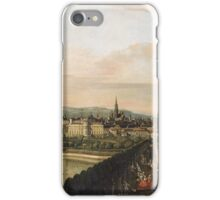 Vintage famous art - Bernardo Bellotto  - Vienna Viewed From The Belvedere Palace 1759 iPhone Case/Skin