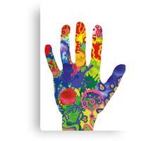 Colorful Rainbow Handprint Canvas Print