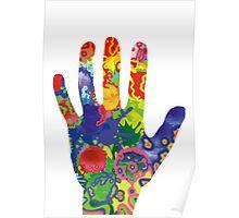 Colorful Rainbow Handprint Poster