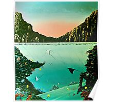 Birds of The Sea by Leslie Berg Poster