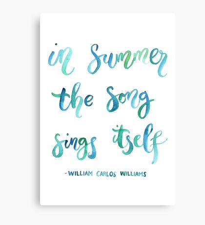 Summer Song Canvas Print