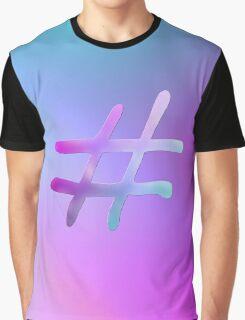Gradient Hashtag Graphic T-Shirt