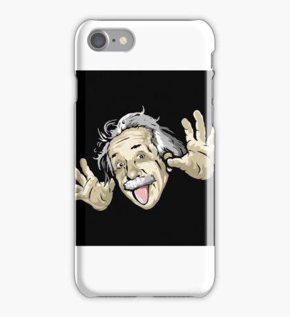 Albert Einstein/ crazy face iPhone Case/Skin