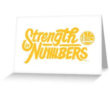 Golden State Warriors | Strength In Numbers | 2016 Greeting Card