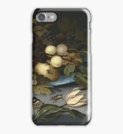 Vintage famous art - Balthasar Van Der Ast  - Still Life With Fruits And Flowers iPhone Case/Skin