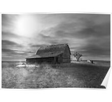 Peace on the Prairies - BW Poster