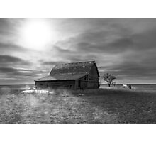 Peace on the Prairies - BW Photographic Print