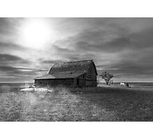 Peace on the Prairies - BW Photographic Print