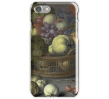 Vintage famous art - Balthasar Van Der Ast  - Basket Of Fruits 1622 iPhone Case/Skin