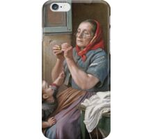 Vintage famous art - Aurelio Zingoni  - A Difficult Task iPhone Case/Skin