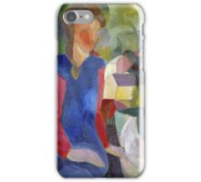 Vintage famous art - August Macke - Woman With Fishbowl  iPhone Case/Skin
