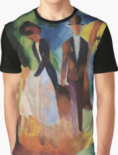Vintage famous art - August Macke - People By The Blue Lake Graphic T-Shirt